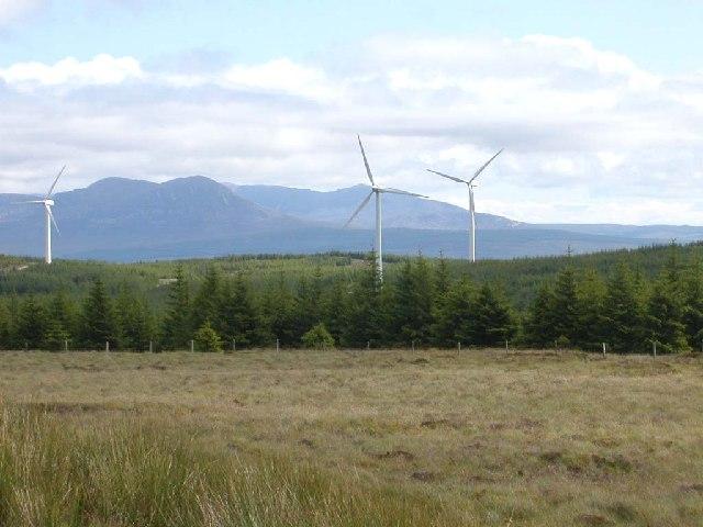 Windfarm, Deucheran Hill by Carradale