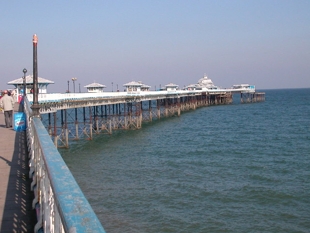 Another angle of Llandudno Pier.