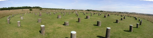 Woodhenge panorama