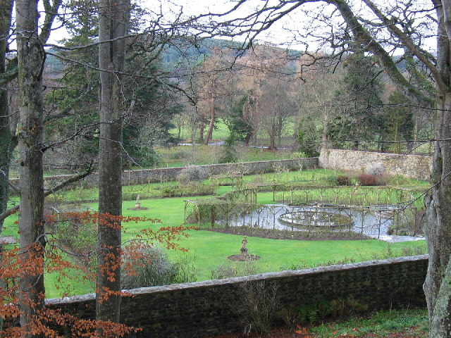 Balindalloch Castle walled garden.