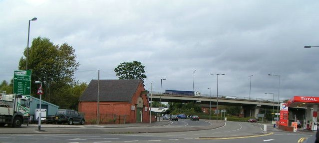 A500 Flyover at Hanford Roundabout