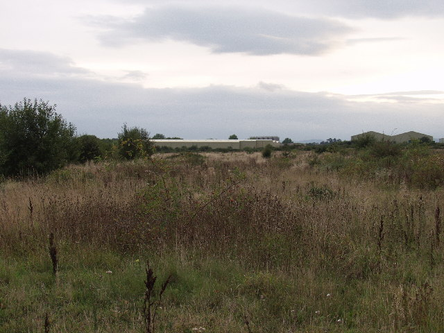 Derelict land on Wrecsam Industrial Estate