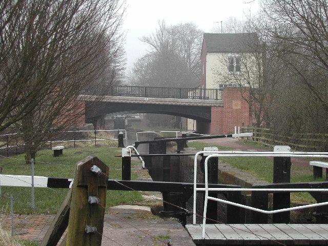 Stockton Brook Locks, Caldon Canal, North Staffs.
