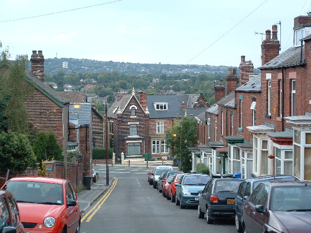 Nether Edge as seen from Meersbrook Avenue