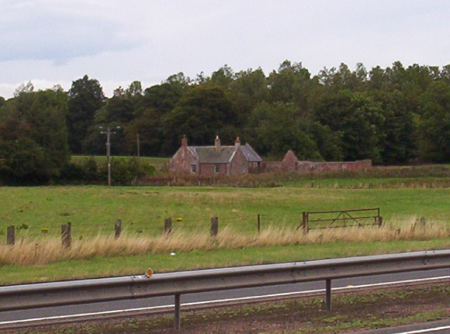 Derelict cottage at the side of A90