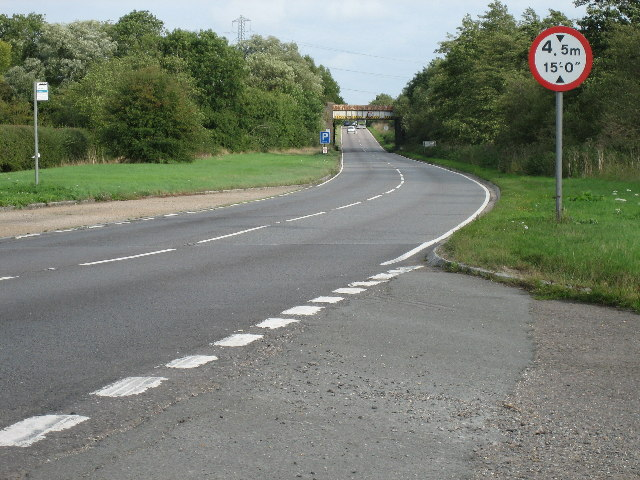 A41 looking west towards railway bridge