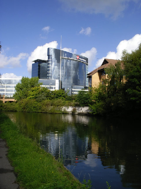 GSK HQ from Grand Union Canal