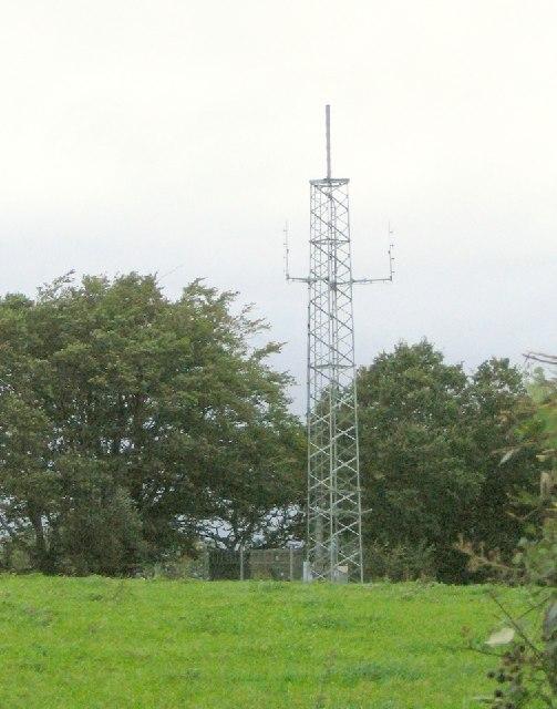 Hilltop mobile phone mast