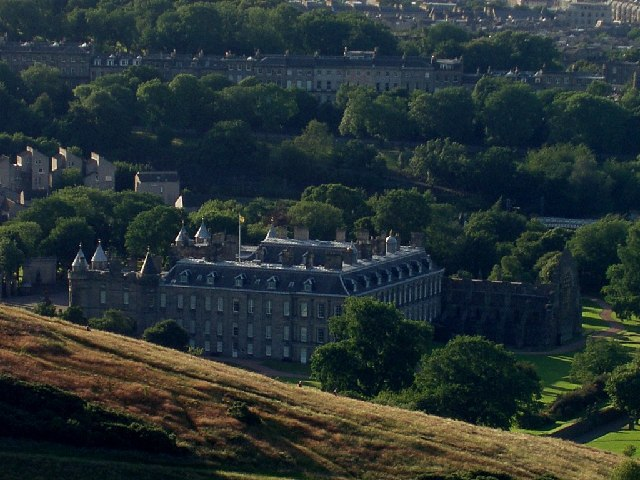 Holyrood palace from Arthur's Seat