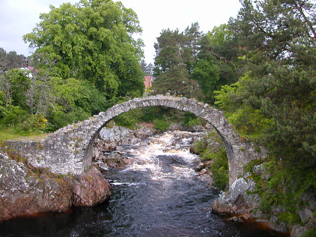 The Old Packhorse Bridge, Carrbridge by Aviemore.