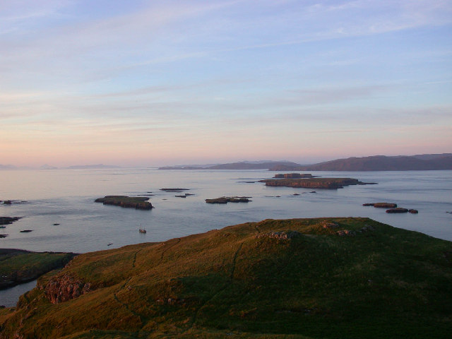 View North from the summit of Lunga, Treshnish Isles