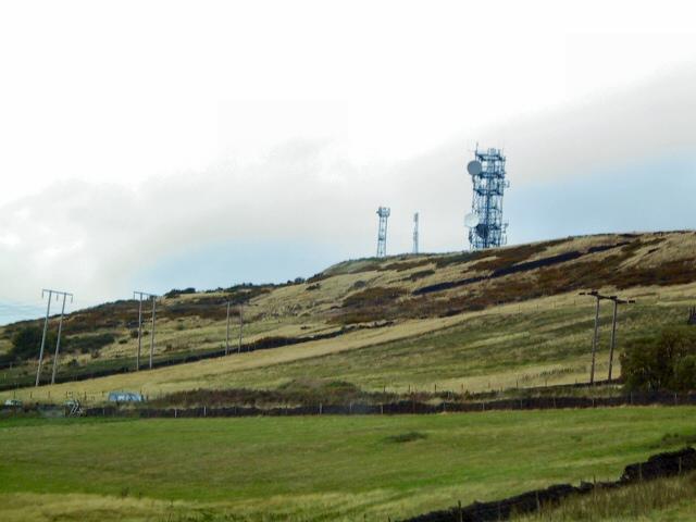 Transmitter Masts at Hilltop Farm
