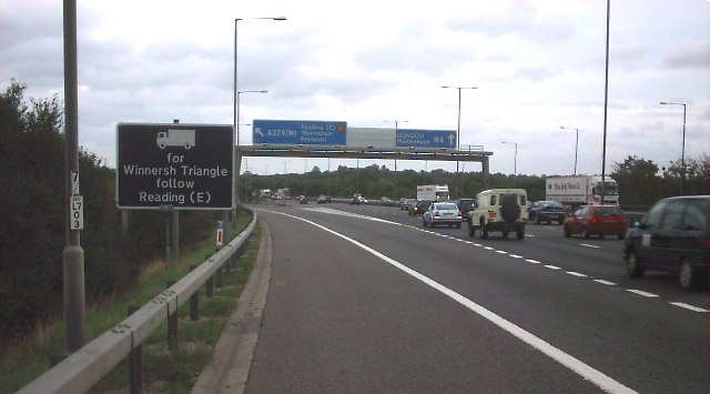 A329M/M4 motorway junction