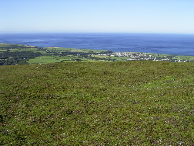 Hut Circles above Kirk Michael