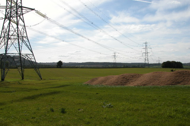 Pylons and Power Cables near Lea