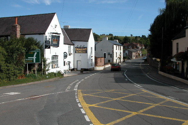 The A40 in Lea, Herefordshire