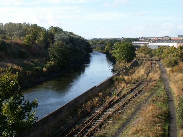 River Leven and railway line