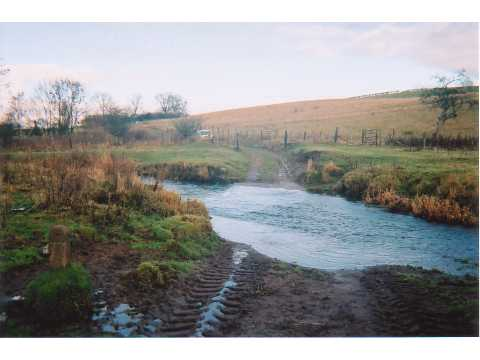 Ford through Wreigh Burn, near Snitter Windyside