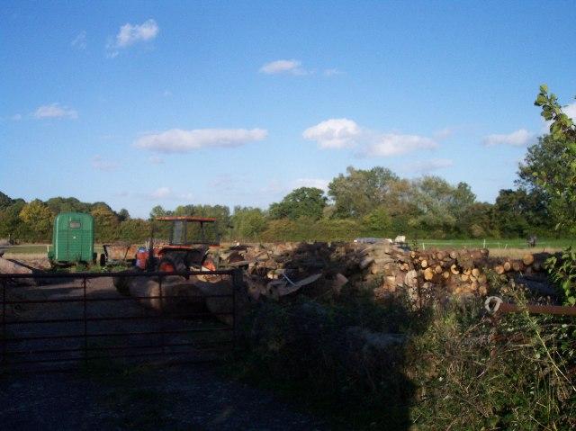 Woodyard near Cobhouse Farm.
