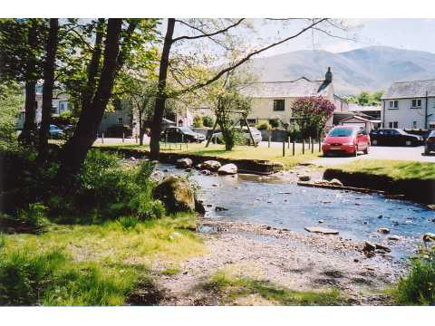 Ford and village, Bassenthwaite