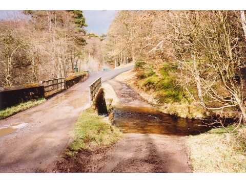 Ford and bridge, Hamsterley Forest