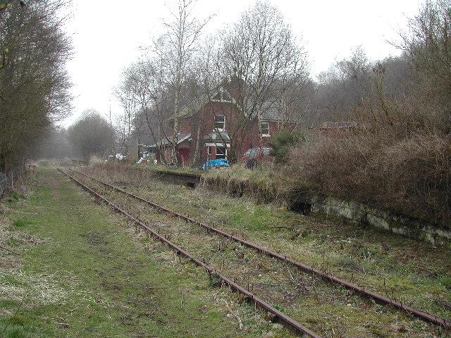 Wall Grange & Longsdon station, North Staffs.