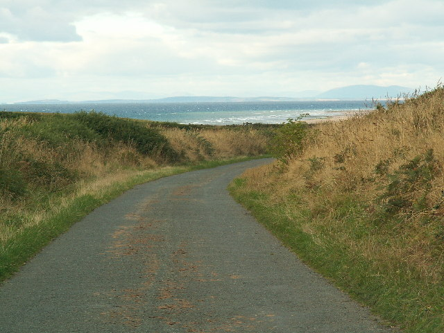 The north end of the Bollyn Road with Scotland in the distance