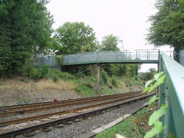 Footbridge over Caterham branch railway, Surrey