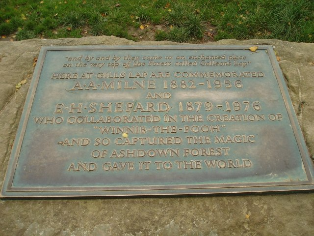 A.A.Milne & E.H.Shepard memorial plaque