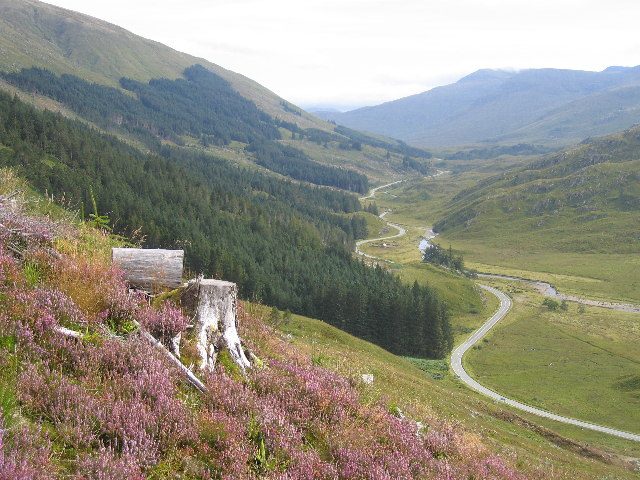 The eastern end of Glen Shiel from the path to Bealach an Lapain
