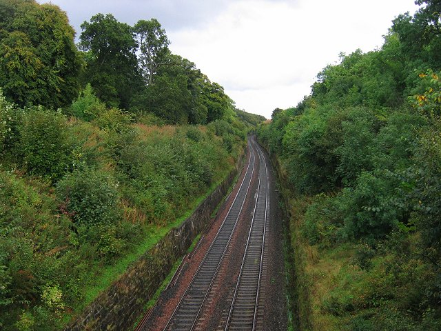 Railway cutting near Winchburgh.