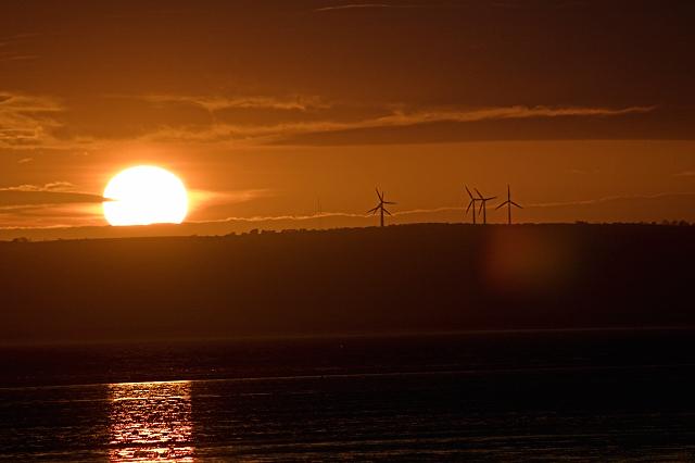 Sunset at Cefn Sidan