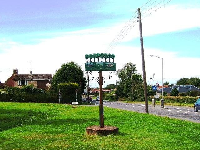 Eight  Ash Green Village Sign, Essex