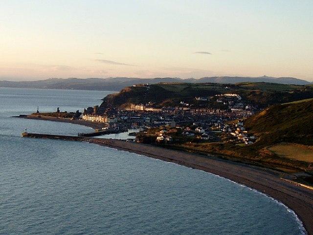 Aberystwyth at sunset