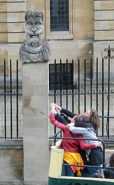 Statue outside Sheldonian Theatre, Oxford