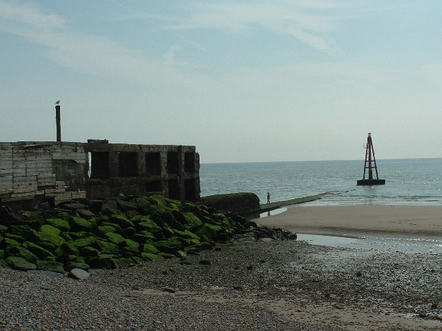 Marker Buoy at the entrance to Rye Harbour, E. Sussex.