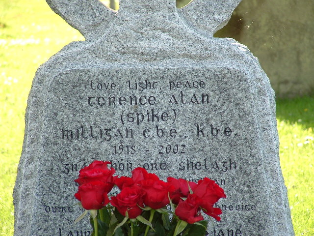 Spike Milligan's Headstone, Winchelsea, E.Sussex.