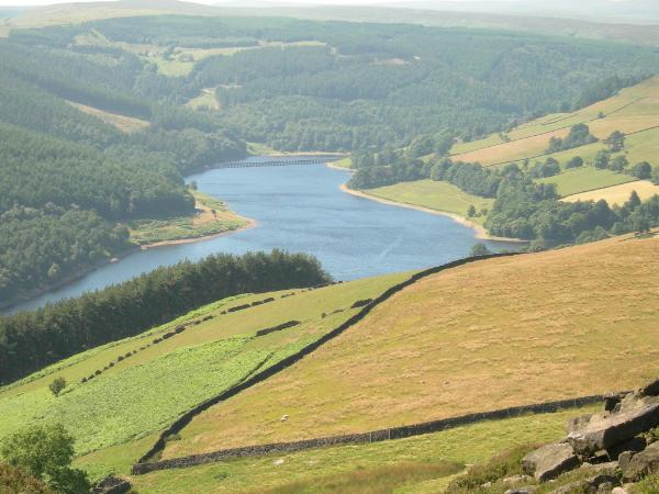 View to the reservoir