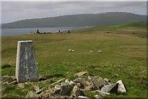 HU4628 : Trig point - Helli Ness by Iain Macaulay