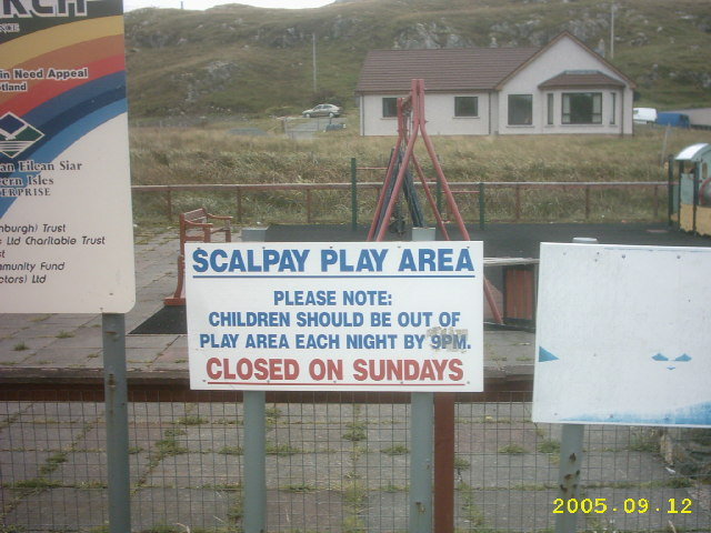 Sign found on the island of Scalpay.