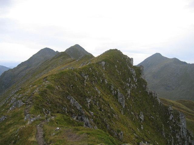 On the ridge of Sgurr nan Spainteach, looking west