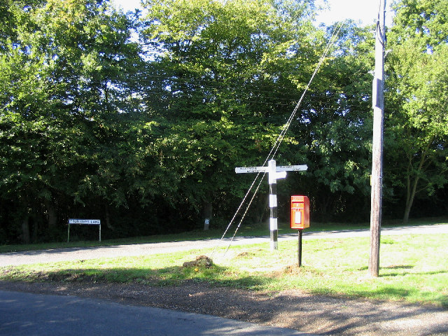 Fingerpost and postbox - Green Street, Essex