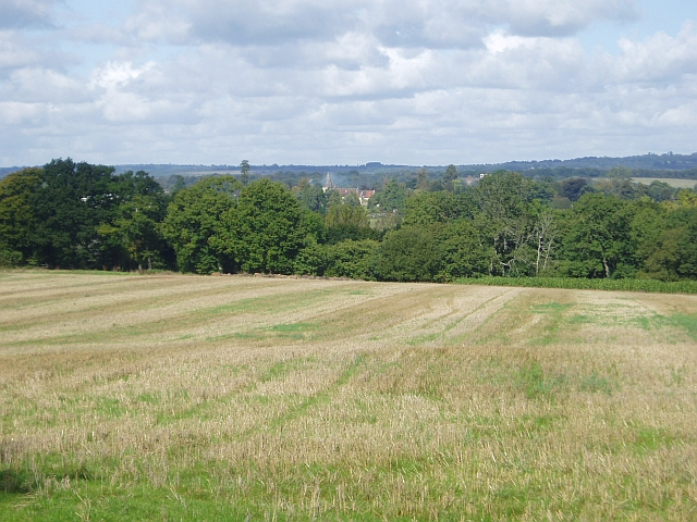 Across fields to Buxted Park Church