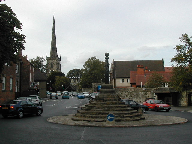 Repton cross and Church tower