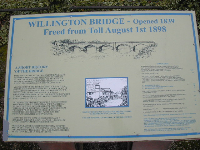 History of Willington Bridge
