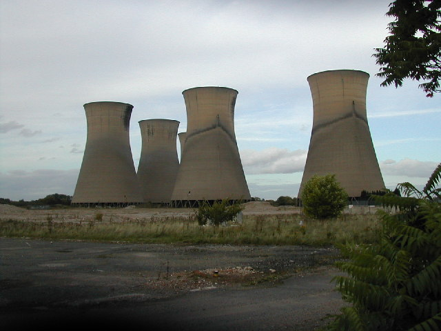 derelict power station at Willington