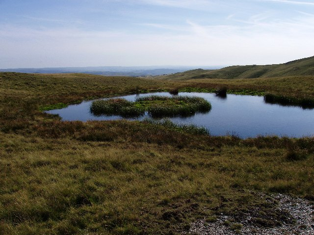 Boggy pond on Plynlimon's eastern col