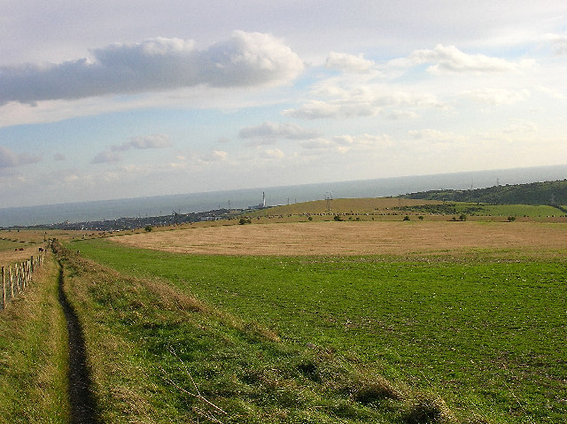 Bridleway and farmland near Fulking Hill