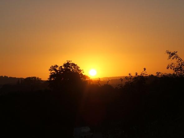 Sunrise from the M20 bridge