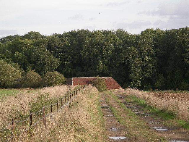 Barn near Stanborough Covert